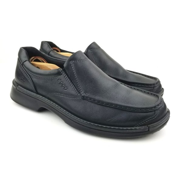 Ecco Fusion II Leather Slip On Casual Water Repell